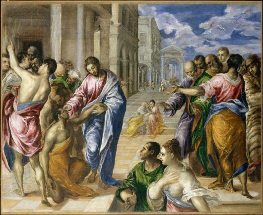 El Greco, Jésus guérit l'aveugle né, ca 1570, Metropolitan NY