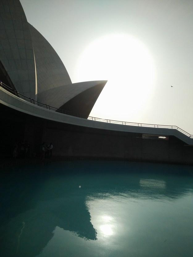 Lotus Temple- Sunset