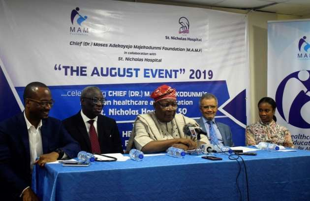 St. Nicholas Hospital August-Event-2019.-Mr.-Kofo-Majekodunmi-Dr.-Ebun-Bamgboye-Chief-Archit... Press Conference: The August Event, 2019