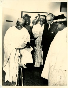 Chief Obafemi Awolowo at the new physiotherapy department
