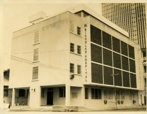 Newly built St. Nicholas Hospital at Campbell Street in 1968