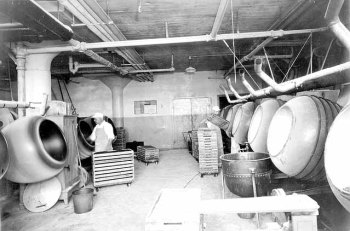 Candy department panning room, Griggs, Cooper & Company, 1937. Courtesy Minnesota Historical Society