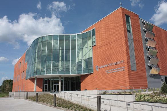 Hamline's newest building is the Anderson Center at Snelling and Englewood. It opened less than a week ago, on August 12, as the University's official welcome center. Amenities include a dining room, events spaces and offices.