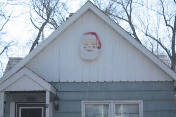 The Christmas spirit runs into the last of April at 745 DeSoto Street.