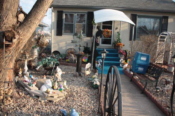 The front yard of Darlene and Edwin Hammond's home at 914 Bayard Avenue.