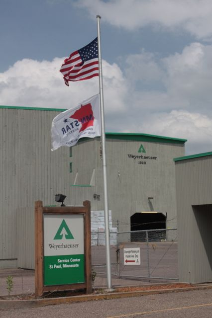 A sign on the Weyerhaeuser Service Center indicates it opened in 1920 but the company's website says 1921.