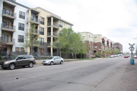 The Emerald Gardens condos on the north side of Franklin Avenue are symbols of this neighborhood's recent transformation from light industrial to residential.