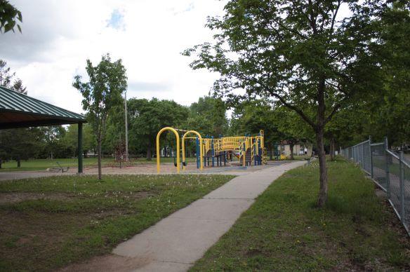 Aldine Park playground and field on Iglehart between Herschel and Aldine.