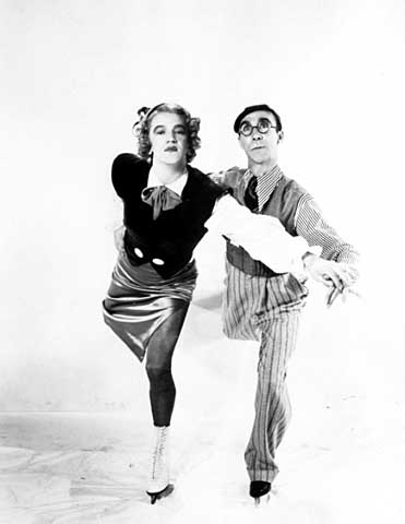 Oscar Johnson, right, and Roy Shipstad, in costume for one of their routines, ca 1939. Courtesy Minnesota Historical Society
