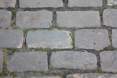 Each cobblestone is about one foot by three inches.