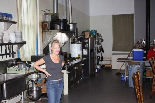 Laura's lower level kitchen.