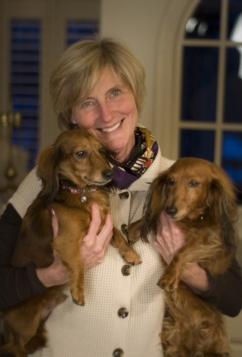 Vikki with her two dogs. Courtesy Vikki Bleise