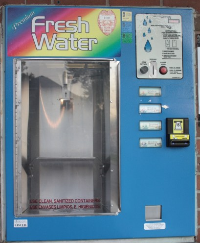 The spring water began flowing again a couple of years ago but is no longer free-it now costs 75 cents per gallon.