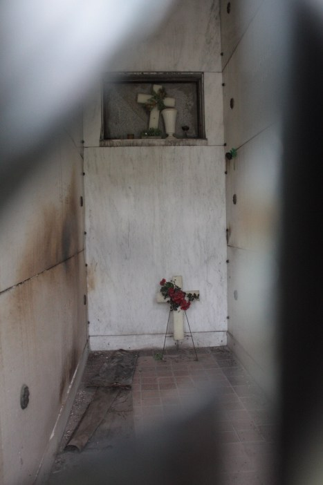 The interior of the O'Connor family mausoleum.