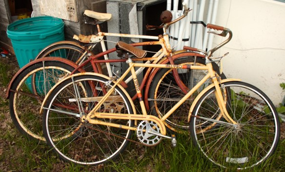 Vintage bikes which date back to the '60s.