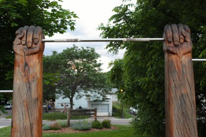 Art or a pull up bar? Both!