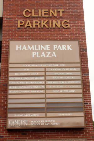 parking ramp sign