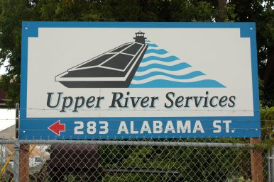 Upper River Services has two facilities in Saint Paul. This one handles the barge cleaning and repair and has a dry dock.
