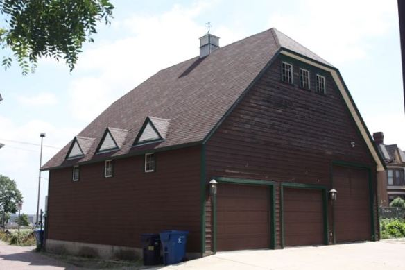 This is the garage for 235 Summit Avenue, the Charles P. Noyes House.