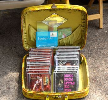 Gretchen's music is also for sale at the mobile art gallery.