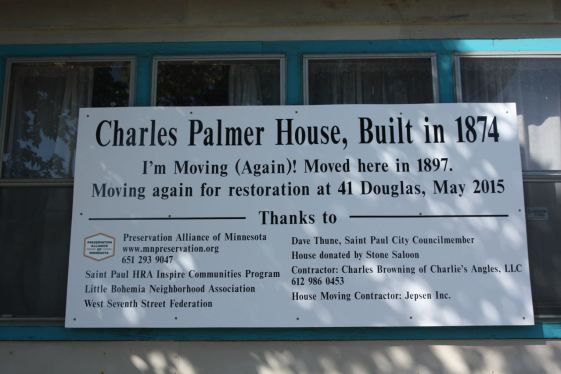 The Palmer House was overdue for a three block move to 41 Douglas Street.