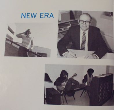 Another page of the '80 yearbook heralding the new Central building.