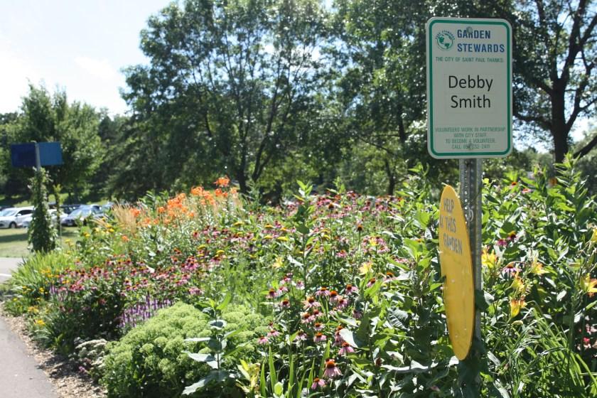 Nearby is this stunning flower garden.