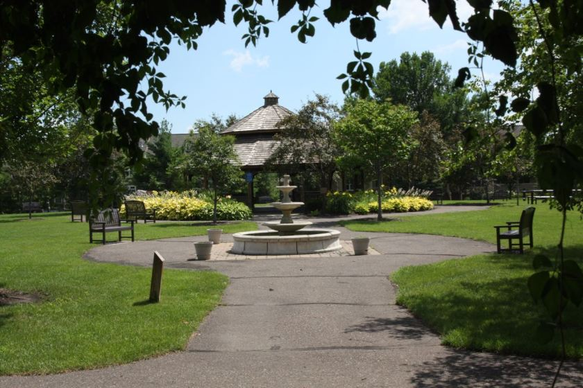 The grounds of Bethesda Hospital– not including the hospital building - encompass an entire city block. The Therapeutic Garden and Park consist of lush, well-kept grass, flower-laden gardens, bushes, trees, benches and a large gazebo.