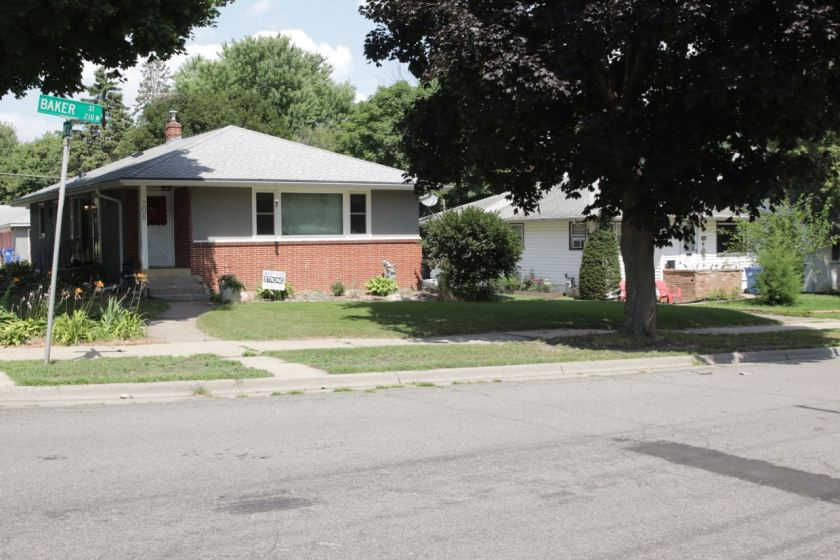 Moving east, the homes are far newer. For example, in this block, 175 to 205 West Baker, most of the houses are modest, single story homes built in the late 50s and early 60s.