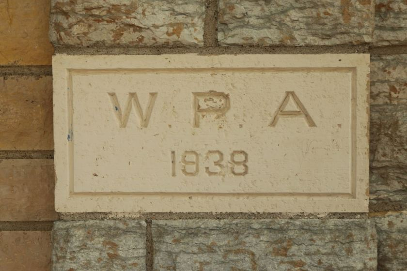 The cornerstone of the Baker Rec Center Annex.