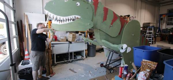 """""""Metaphorasaurus"""" measured about seven feet tall and close to 15 feet long."""