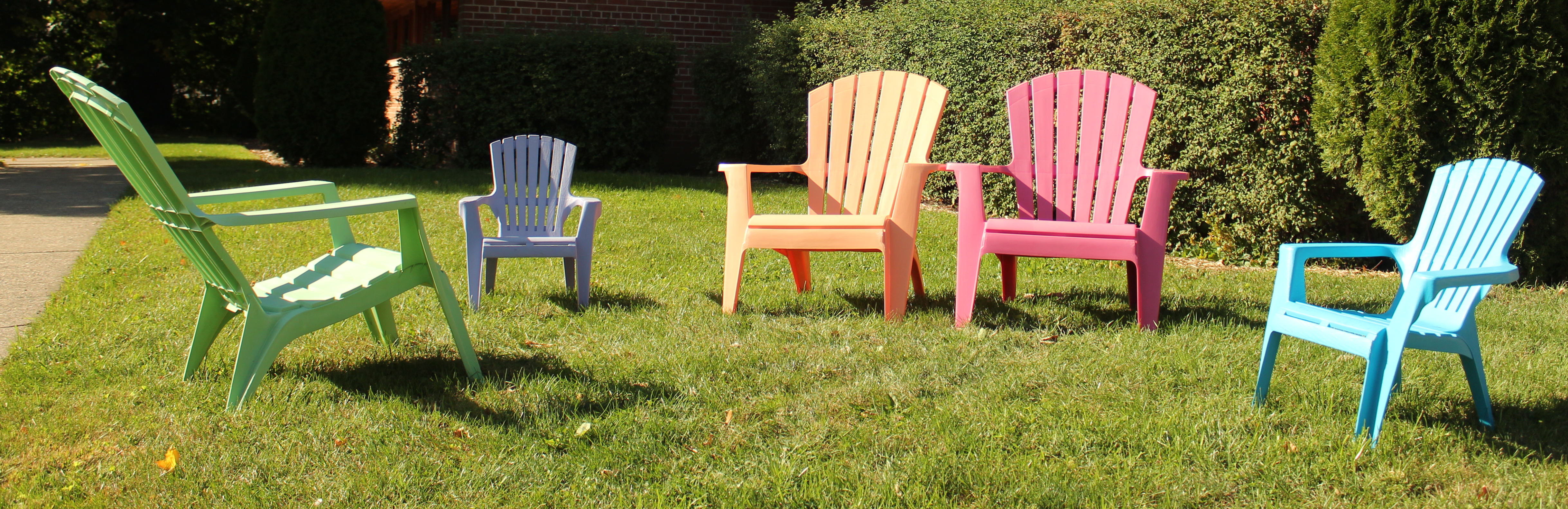 Colored Adirondack Chairs Bright Pastel Colored Adirondack Chairs In Front Of