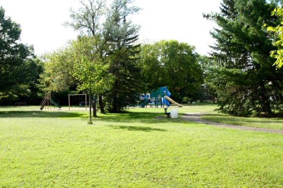 Oddly, Taylor Park is the most open space I saw in Highwood or Battle Creek.
