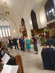 Easter Sunday communion