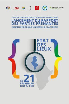 The announcement of the new coalition's report on the rights of LGBTQI people in Tunisia.