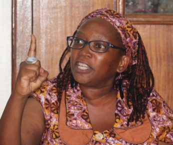 Stella Nyanzi remains a devoted mother as well as an outspoken political activist. (Photo courtesy of Voice of America)