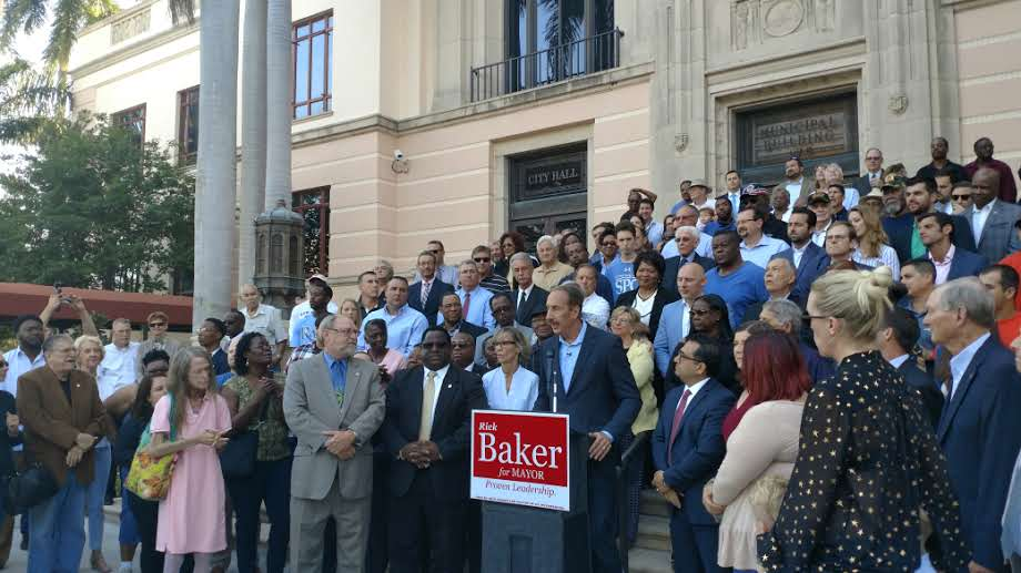 Announcing another bid for St  Pete mayor, Rick Baker