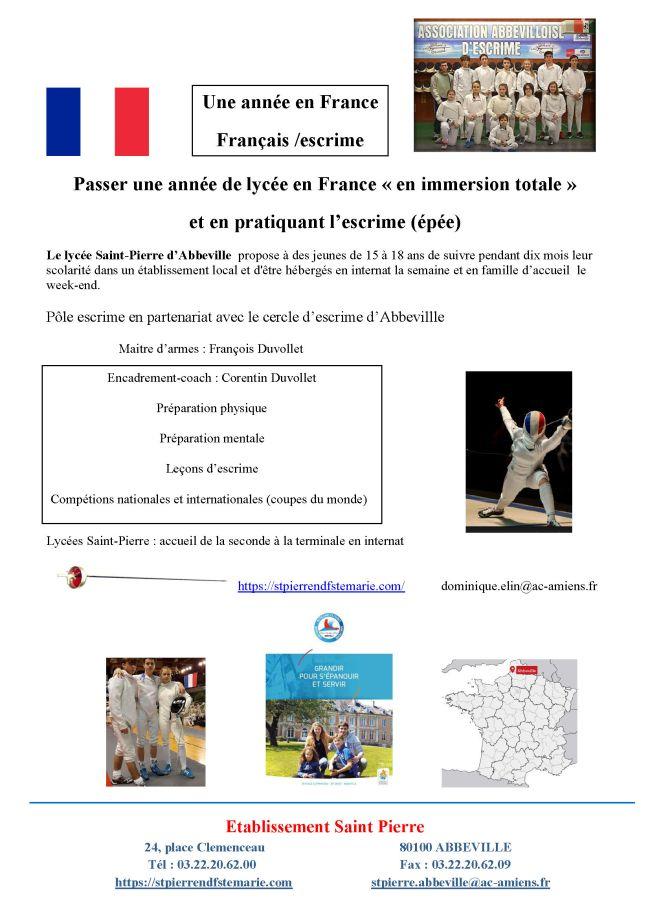 Français escrime