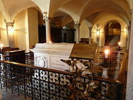 St. Columbanus' Sarcophagus in the Crypt of Bobbio