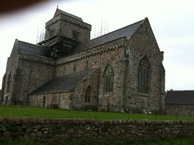 Iona Abbey. East Side. A cloudy day view, Sept. 2009