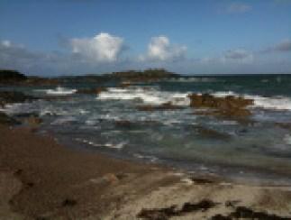 Coastline of Iona where Columba and his 12 companions landed