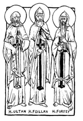 Drawing of Fursey and his brothers. from orthodoxaustin.org