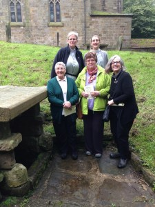 St. Hilda's Pilgrimage group to St. Hilda's Well, Hinderwell, Sept. 2014