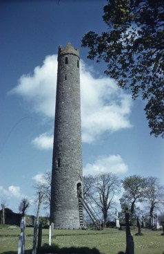 Kildare Round Tower, lower part of tower likely from Brigid's era