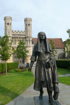 Statue of St. Bertha at Lady Wooton's Gardens, Kent