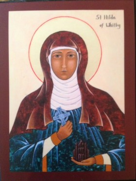 Icon of St. Hilda of Whitby by Ellen Francis, OSH
