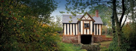 St. Winifred's Well house at Shrewsbury owned by the Landmark Trust