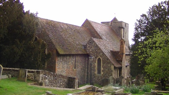St. Martin's Church, Canterbury. This was St. Bertha's private chapel