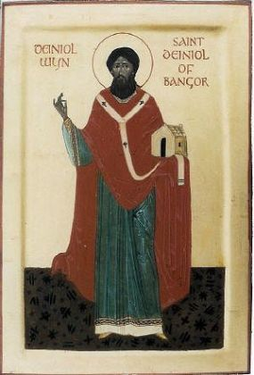 St. Deiniol icon by unknown writer