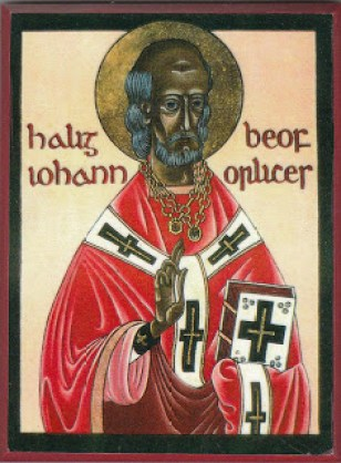 Icon of St. John of Beverley by unknown writer